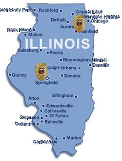 Illinois Security - Map of illinois cities