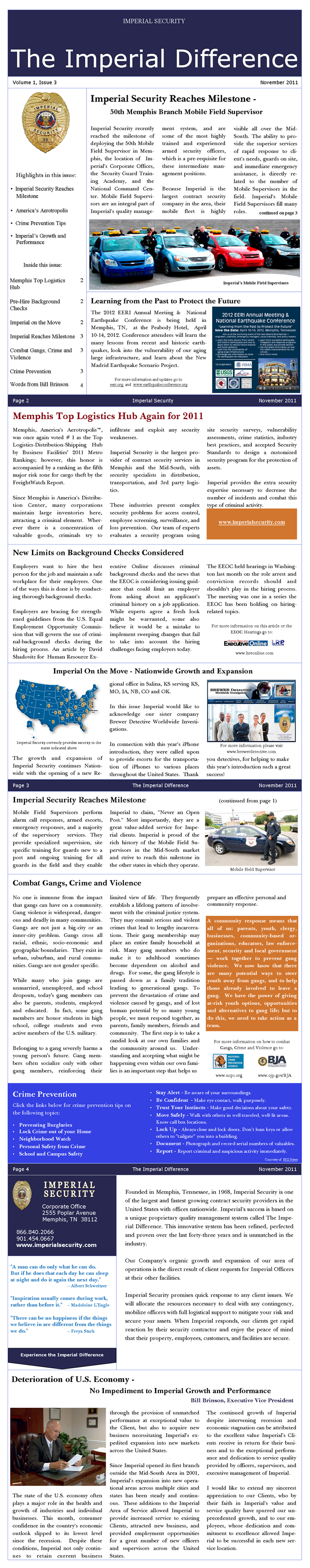 Imperial Security Newsletter Volume 1 Issue 3